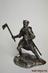 Рыцарь в бою - Не крашенный оловянный солдатик. Высота 54 мм.