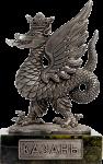 Герб города Казань - Олово, тонировка, змеевик. Высота с подставкой – 6,5 см