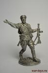 Старший сержант пехоты РККА. 1941-43 гг. СССР - Не крашенный оловянный солдатик. Высота 54 мм.