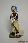 Сапер брауншвейгского лейб батальона 1815 год - Оловянный солдатик коллекционная роспись 54 мм. Все оловянные солдатики расписываются художником вручную