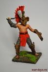 Римские Гладиаторы. Фракиец - Оловянный солдатик коллекционная роспись 54 мм. Все оловянные солдатики расписываются художником вручную