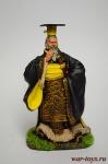 Китайский император Цинь Ши Хуан - Оловянный солдатик коллекционная роспись 54 мм. Все оловянные солдатики расписываются художником вручную