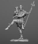 Индийский бог Шива - Оловянный солдатик, белый металл (набор для сборки из 9 деталей). Размер 54 мм (1:30)