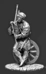 Европейский крестьянин с волынкой, 16 век - Оловянный солдатик, белый металл (набор для сборки из 11 деталей). Размер 54 мм (1:30)