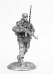 Командир разведгруппы - Не крашенный оловянный солдатик. Высота 54 мм.
