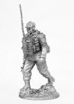 Не крашенный оловянный солдатик. Высота 54 мм. - Не крашенный оловянный солдатик. Высота 54 мм.