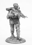 Боец разведруппы - Не крашенный оловянный солдатик. Высота 54 мм.