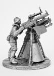 Расчет Максима (2 бойца), Москва, 1941 - Не крашенный оловянный солдатик. Высота 54 мм.