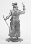 Чумный доктор - Не крашенный оловянный солдатик. Высота 54 мм.