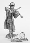 Еврейский музыкант - Не крашенный оловянный солдатик. Высота 54 мм.