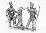 Встреча у водозаборной колонки в Испании 1811 год - Не крашенный оловянный солдатик. Высота 54 мм.