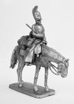 Рядовой кирасирского полка зимой 1812 года - Не крашенный оловянный солдатик. Высота 54 мм.