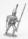 Фузелер мусульманской роты легиона Мирабо, 1800 - Не крашенный оловянный солдатик. Высота 54 мм.