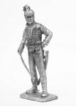 Кавалерийский офицер мусульманской роты легиона Мирабо. 1800 - Не крашенный оловянный солдатик. Высота 54 мм.
