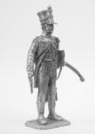 Луис Брюн, адьютант маршала Сульта - Не крашенный оловянный солдатик. Высота 54 мм.