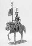 Улан-знаменосец войск Великого княжества Литовского, 1812 - Не крашенный оловянный солдатик. Высота 54 мм.