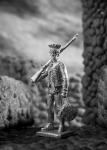 Фузелер пеших гусар Наполеона 1800-1801 год - Не крашенный оловянный солдатик. Высота 54 мм.