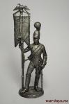Эстандарт-юнкер Кавалергардского полка со штандартом. 1805-08 - Не крашенный оловянный солдатик. Высота 54 мм.
