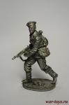Краснофлотец с п-п Томпсон. Сев. флот, 1941-43 гг. СССР - Не крашенный оловянный солдатик. Высота 54 мм.