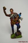 Денис Давыдов, 1812 г. - Оловянный солдатик коллекционная роспись 54 мм. Все оловянные солдатики расписываются художником вручную