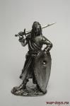 Рыцарь Ордена Тамплиеров в Святой Земле, XIII век - Не крашенный оловянный солдатик. Высота 54 мм.