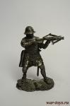 Воин-крестоносец с арбалетом, 12 век. - Не крашенный оловянный солдатик. Высота 54 мм.