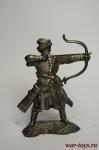 Русский лучник, XIV в. - Не крашенный оловянный солдатик. Высота 54 мм.
