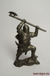 Русский дружинник, XIV в. - Не крашенный оловянный солдатик. Высота 54 мм.