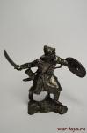Золотоордынский воин, XIV в. - Не крашенный оловянный солдатик. Высота 54 мм.