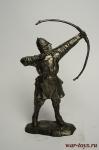 Викинг-лучник - Не крашенный оловянный солдатик. Высота 54 мм.