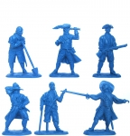 Набор солдатиков Пираты (пластик) 6 фигур - Набор из 6 фигур. Пластик, высота фигур 54 мм.