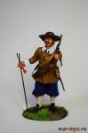 Испанский Мушкетер, 30-летняя Война, 1618 - Оловянный солдатик коллекционная роспись 54 мм. Все оловянные солдатики расписываются художником в ручную