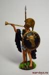 Трубач (Афины) 5 в до н.э. - Оловянный солдатик коллекционная роспись 54 мм. Все оловянные солдатики расписываются художником в ручную