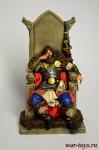 Ярл на троне 800 г.н.э. - Оловянный солдатик коллекционная роспись 54 мм. Все оловянные солдатики расписываются художником в ручную