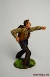 Дерущийся ковбой - Оловянный солдатик коллекционная роспись 54 мм. Все оловянные солдатики расписываются художником в ручную