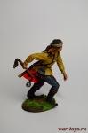 Индеец с булавой - Оловянный солдатик коллекционная роспись 54 мм. Все оловянные солдатики расписываются художником в ручную