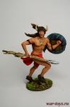 Индеец с копьем и щитом