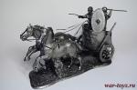 Римская колесница - Не крашенный оловянный солдатик. Высота 54 мм.
