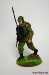 Радист разведгруппы - Оловянный солдатик коллекционная роспись 54 мм. Все оловянные солдатики расписываются художником вручную
