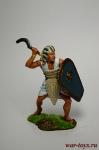 Египетский воин, 2-1 тыс до н. э. - Оловянный солдатик коллекционная роспись 54 мм. Все оловянные солдатики расписываются художником вручную