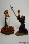Композиция из 2 фигур Жанна Д Арк - Оловянный солдатик коллекционная роспись 54 мм. Все оловянные солдатики расписываются художником вручную