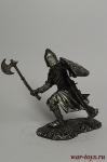 Средневековый рыцарь - Не крашенный оловянный солдатик. Высота 54 мм.