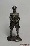 офицер кавалерии Сибирской армии - Не крашенный оловянный солдатик. Высота 54 мм.