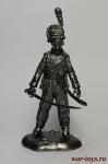 Гражданская война - Не крашенный оловянный солдатик. Высота 54 мм.