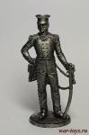 Генерал-майор А.П.Ермолов. Россия, 1812 г. - Не крашенный оловянный солдатик. Высота 54 мм.