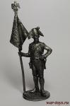 Старший сержант - орлоносец 4-го лин. плк. Франция, 1805 - Не крашенный оловянный солдатик. Высота 54 мм.