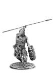 Скиф бросающий копье - Не крашенный оловянный солдатик. Высота 54 мм.