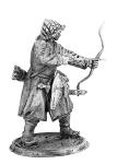 Монгольский лучник - Не крашенный оловянный солдатик. Высота 54 мм.