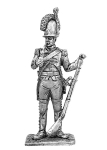 Рядовой шведского гренадерского полка 1808-1817 - Не крашенный оловянный солдатик. Высота 54 мм.