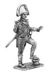 Офицер шведского гренадерского полка 1808-17 - Не крашенный оловянный солдатик. Высота 54 мм.